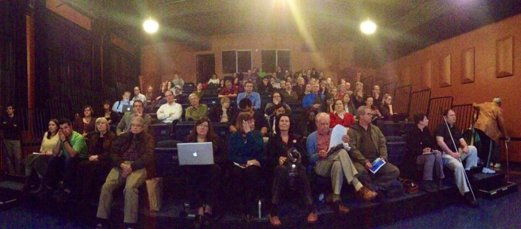 The crowd at our January forum.